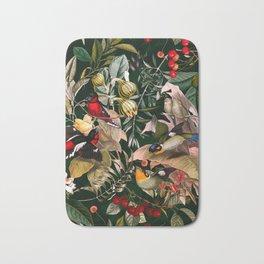 Floral and Birds XXV Bath Mat