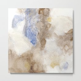 Bloom No. 4 Abstract watercolor floral Metal Print