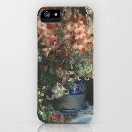 Gladioli in a Vase by Renoir iPhone Case