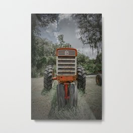 IH Farmall Red Tractor Front View 560 Rusty  Metal Print
