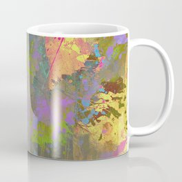 Messy Art II - Abstract, pastel coloured artwork in a random, chaotic, messy style Coffee Mug