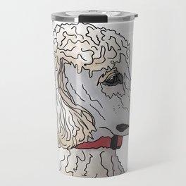 Kyah the White Standard Poodle Travel Mug