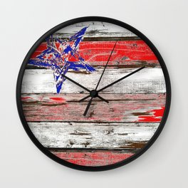 Chippy wood Flag Wall Clock