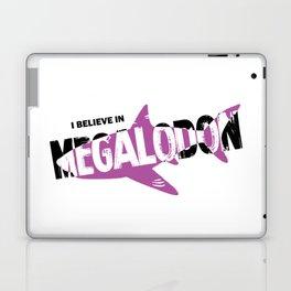 I Believe in Megalodon Laptop & iPad Skin