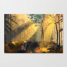 Let's Take a Walk Canvas Print