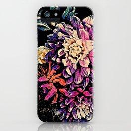 Autumn Dahlia Floral Bouquet iPhone Case