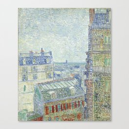 Van Gogh - View from Theo's Apartment, 1887 Canvas Print