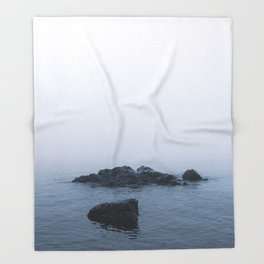 Lake Superior off the North Shore in Minneosta Throw Blanket