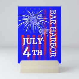 Bar Harbor 4th of July Independence Day Mini Art Print
