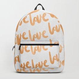 Love Gold Copper Bronze Pattern Backpack