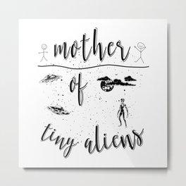 Mother Mothers Day Present Alien Children Metal Print