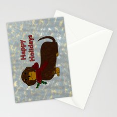Happy Holidays Dachshund Stationery Cards