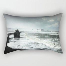Black Sand beaches in Iceland Rectangular Pillow
