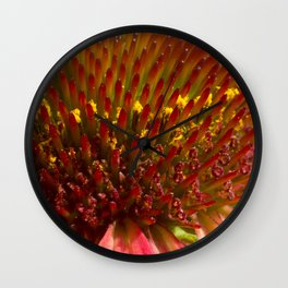 Cone flower colors Wall Clock