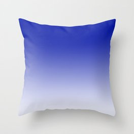 Ombre Zaffre Blue Duotone Throw Pillow