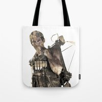 daryl Tote Bags featuring Daryl TWD by Yousef
