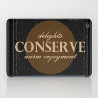 """leather iPad Cases featuring LeAtHer COnSeRvE by """"CVogiatzi."""