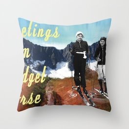 Vintage Postcard Throw Pillow