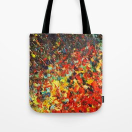 END OF THE RAINBOW - Bold Multicolor Abstract Colorful Nature Inspired Sunrise Sunset Ocean Theme Tote Bag