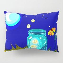 A Jar of Fireflies at Night Pillow Sham