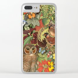 birds flowers and insects Clear iPhone Case