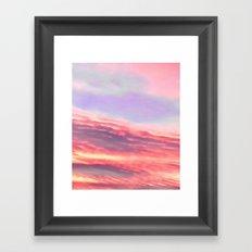 The sky's on fire Framed Art Print