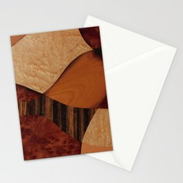 Delicacy abstarct from different wood Stationery Cards