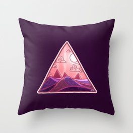 Pyramid Land Throw Pillow