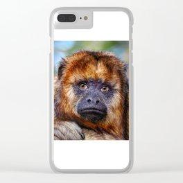 Monkey Portrait Clear iPhone Case