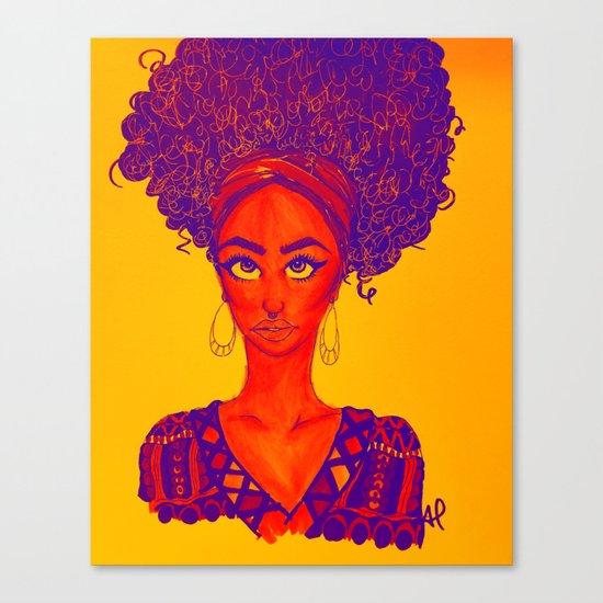Black Queen Canvas Print