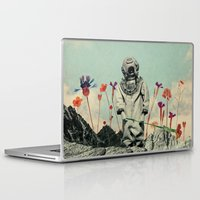 diver Laptop & iPad Skins featuring Lonely Diver by Fajar P. Domingo