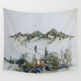 Sand Dunes and Rock Pools Wall Tapestry