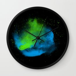 cold dust explosion Wall Clock