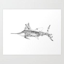 Fisherman Marlin Art Print
