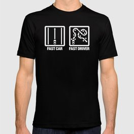 Fast Car - Fast Driver v4 HQvector T-shirt