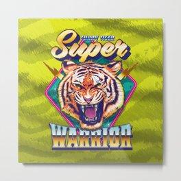 Super Furry Tiger Warrior Metal Print