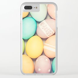 Colorful Easter Egg Photograph - Pink, Teal, Green Yellow and Orange Clear iPhone Case