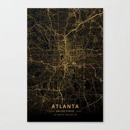 Atlanta, United States - Gold Canvas Print