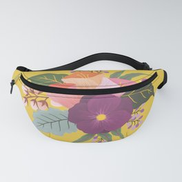 May Florals on Yellow Fanny Pack