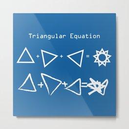 Triangular Equation Metal Print