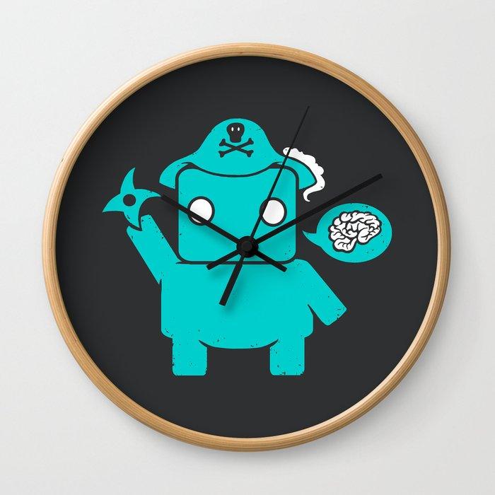 Ninja Pirate Robot Zombie Wall Clock