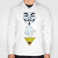 anonymous Hoodies featuring Anonymous by Edgar Huaracha