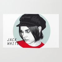 jack white Area & Throw Rugs featuring JACK WHITE by Nuk_