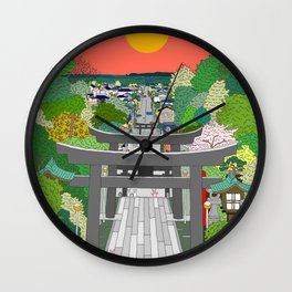 Passage to Light - Miyajidake Shrine Wall Clock