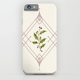 Minimal Holly Jolly #society6 #xmas iPhone Case