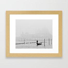 White Venice Framed Art Print