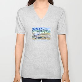 Beach Bird Unisex V-Neck