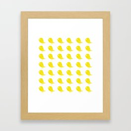 Yellow Birdies Framed Art Print