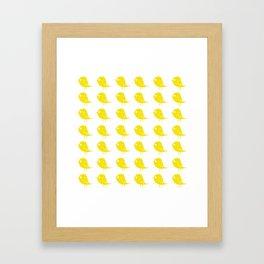 Yellow Birdies Framed Art Print