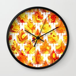 Autumn Leaves Abstract - Nature Patte Wall Clock
